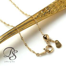 K10 10金 ゴールド ネックレススクリューチェーン 細め 華奢 ゴールドチェーン 送料無料 gold necklace chain DEVAS ディーヴァス(アクセサリー チェーンネックレス シンプル レディース プレゼント)