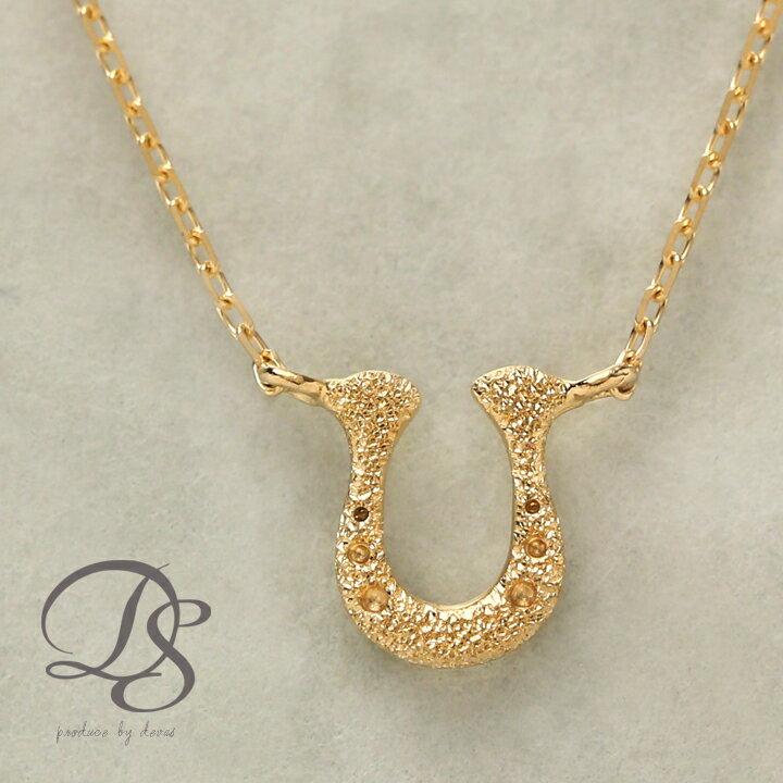 K18 18金 ゴールド ネックレス馬蹄 ホースシュー gold necklace送料無料 DEVAS ディーヴァス 18k シンプル 華奢 プチネックレス お守り ゴールドネックレス レディース 誕生日 プレゼント ペンダント ゴールドチェーン