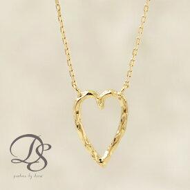 K18 18金 ハート ゴールド ネックレス 選べるサイズ展開   プレゼント ギフトにもオススメ necklace送料無料 DEVAS ディーヴァス シンプル アクセ アクセサリー ハートモチーフ ゴールドネックレス 華奢 デザイン 誕生日 贈り物