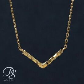 ゴールドネックレス Vバーネックレス 選べるサイズ展開 アジャスターカン付 ゴールド ネックレス k18 18金 18Kネックレス K18ネックレス おしゃれ 大人 シンプル 誕生日 プレゼント ギフト 送料無料 DEVAS ディーヴァス