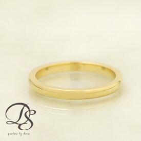 18金 リング レディース ピンキーリング 18k 指輪 レディース メンズ ゴールド ピンクゴールド ホワイトゴールド2mm幅 甲丸 選べる仕上げ(光沢・マット)重ねづけ 誕生日 ギフト プレゼント 贈り物 ペアリング 結婚指輪1号から製作 DEVAS ディーヴァス 送料無料