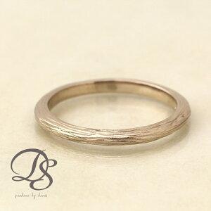 18金 ホワイトゴールド リング レディース ピンキーリング 指輪 メンズ リング K18 WGラインデザイン(M) 木目 シンプル誕生日 プレゼント 贈り物 妻 彼女 ペアリング 結婚指輪DEVAS ディーヴァス
