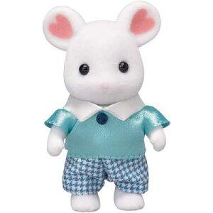 シルバニアファミリー 人形 マシュマロネズミの男の子 ネ-105 エポック社 3歳から