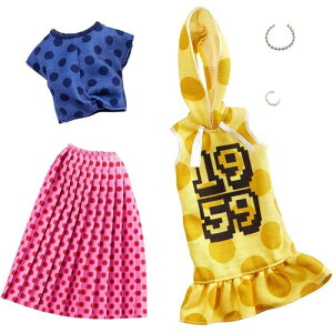 バービー バービー ファッション2パック ポルカドット 着せ替え人形用ドレス アクセサリー GHX60 マテル 3才から