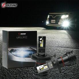 LED ヘッドライト H4 車検対応 Hi/Lo カットライン 12,000LM ホワイト 6,500K 左右セット