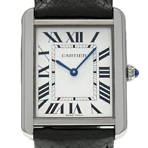 【DS KATOU】 Cartier カルティエ タンクソロ LM  WSTA0028 メンズ クォーツ シルバー文字盤  【質屋出店】 【中古】