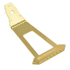 ギターテールピース 6弦 アーチトップジャズギター用 10mm 亜鉛合金製 ゴールデン
