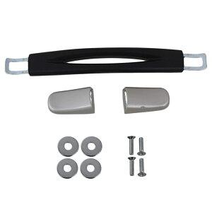 スーツケースハンドル グリップ 取っ手 キャリーバッグ用 交換 修理 15cm ブラック&シルバー B020