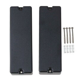 エレキベースピックアップセット ダブルコイル 6弦ベース用 12.25k/12.5k プラスチックカバー ブラック