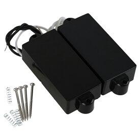 ベースピックアップセット エレキベース用 PB011 プラスチック&マグネット 9k ブラック