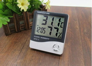 大画面表示 シンプルデザイン・デジタル温湿度計・温度計・湿度計・時計・アラーム機能付き・置き掛け兼用・最高/最低温度、最高/最低湿度