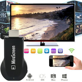 MiraScreen Wi-Fi 1080P ミラーリング Android スマートフォン/ iPhone /タブレットPC 操作簡単