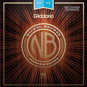 D'Addario NB1252BT Balanced Tension Light 012-052 Nickel Bronze ダダリオ アコギ弦