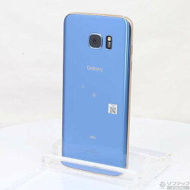 【中古】au GALAXY S7 edge 32GB ブルーコーラル SCV33 au 【291-ud】