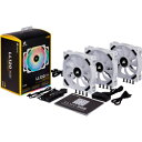 CORSAIR(コルセア) LL120 RGB White Triple Fan Kit CO-9050092-WW (ケースファン/120mm/360〜2200rpm) (CO9050092WW)