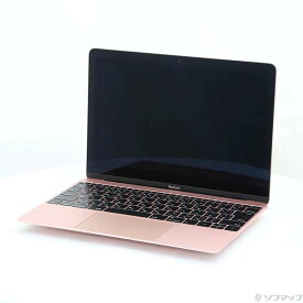 【中古】Apple(アップル) MacBook 12-inch Early 2016 MMGL2J/A Core_m3 1.1GHz 8GB SSD256GB ローズゴールド 〔10.11 ElCapitan〕 【291-ud】