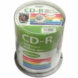 磁気研究所 【HIDISC】HDCR80GP100 CD-R 700MB 100枚スピンドル 52倍速 ワイドプリンタブル HDCR80GP100
