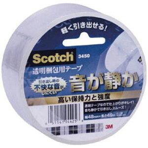 3Mジャパン 3M スコッチ 透明梱包用テープ 48mmX49m 3450 3450