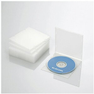 ELECOM(エレコム) CD/DVD/Blu-ray対応収納スリムケース (1枚収納×10セット・クリア) CCD-JPCS10CR CCDJPCS10CR