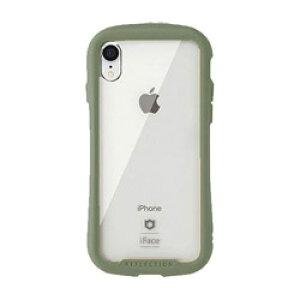 HAMEE [iPhone XR専用]iFace Reflection 強化ガラス クリアケース 41-907535 カーキ IPXRIFACERFTKH