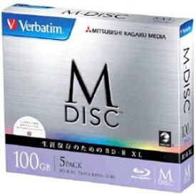 【在庫限り】 三菱ケミカルメディア 【M-DISC】 DBR100YMDP5V1 データ用BD-R XL(100GB/5枚/5mmスリムケース/インクジェットプリンタ対応) DBR100YMDP5V1 [振込不可]