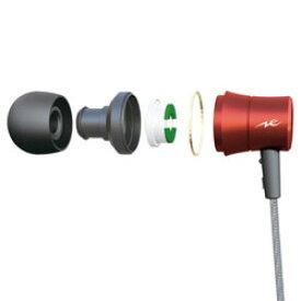 radius(ラディウス) HP-NEL31 レッド【リモコン・マイク対応】 ライトニングイヤホン カナル型 HPNEL31R