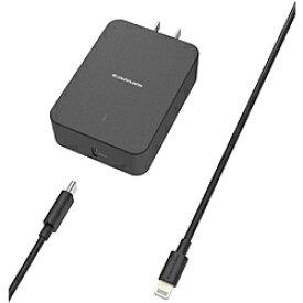 多摩電子工業 PD対応 USB AC充電器 18W USB-C Lightningケーブル付属 TSAP116ULC10K [振込不可]