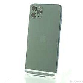 【中古】Apple(アップル) iPhone11 Pro Max 256GB ミッドナイトグリーン MWHM2J/A SIMフリー【-ud】