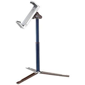 ベルボン タブレット/iPad対応[スタンド高さ170〜340mm 固定幅123〜210mm 厚み22mm以内] 卓上タブレットスタンド「Luvipod(ラビポッド)」 TSカフェ(ディープシーブルー) LUVIPODTSCAFEDSB