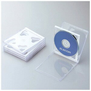 ELECOM(エレコム) CD/DVD/Blu-ray対応収納ケース (2枚収納×5セット・ホワイト) CCD-JSCNW5WH CCDJSCNW5WH