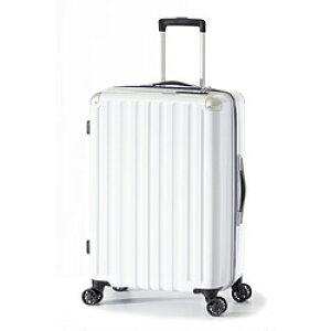 A.L.I スーツケース ハードキャリー 66L ホワイト ALI-6008-24 [TSAロック搭載] ALI600824