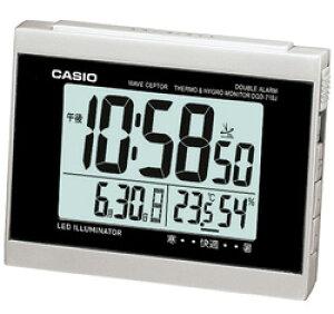 CASIO(カシオ) DQD-710-J8JF (シルバー) 電波目覚まし時計 「ウェーブセプター」 ダブルアラーム DQD710J8JF