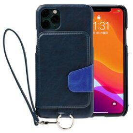 トーモ RAKUNI Soft Leather Case for iPhone 11 Pro Max rak-19ipl-pnvy ネイビーブルー RAK19IPLPNVY [振込不可]