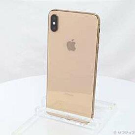 【中古】Apple(アップル) iPhoneXS Max 256GB ゴールド MT6W2J/A SIMフリー【-ud】