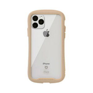 HAMEE iPhone 11 Pro 5.8インチ iFace Reflection強化ガラスクリアケース 41-907344 ベージュ IPXIIFACERFTBG
