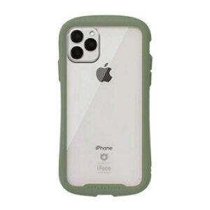 HAMEE [iPhone 11 Pro専用]iFace Reflection 強化ガラス クリアケース iFace カーキ 41-907542 IP11PIFACERFTKH
