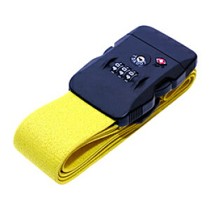 ミヨシ TSAロック付スーツケースベルト ダイヤルロック式 MBZ-SBL02/YL MBZSBL02YL