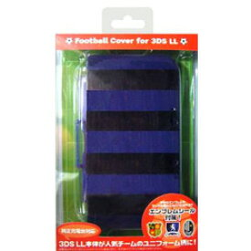 【在庫限り】 サイバーガジェット 3DS LL用 フットボールカバー ブラック×ブルー [CY-3DLFBC-BKBL] [振込不可]