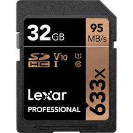レキサー Lexar Professional 633x 【32GB】SDHCカード [Class 10, UHS-I (U1), V10] LSD32GCBJP633 LSD32GCBJP633
