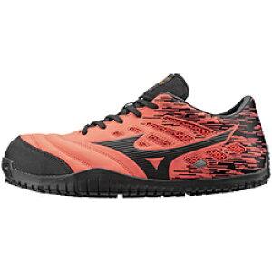 ミズノ 27.0cm 靴幅:3E メンズ 安全靴 MIZUNO WORKING オールマイティ TD11L(オレンジ×ブラック)F1GA190054【JSAA・普通作業用(A種)認定品 耐滑 プロテクティブスニーカー】 [27.0cm] F1GA190054