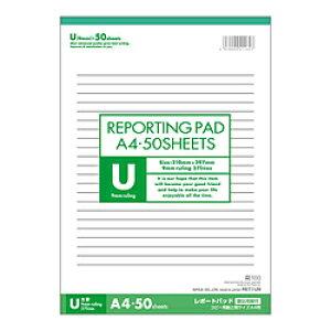 アピカ レポート用紙A4U罫 RE71UN RE71UN
