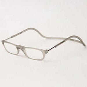 名古屋眼鏡 クリックリーダー マットタイプ(マットグレー/+2.50)