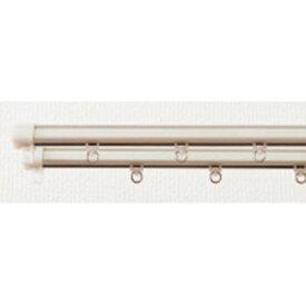東京シンコール 静音角型木目レール 3m用(160-300cm) シングル ホワイト I58013MWWW I5801_3MWWW