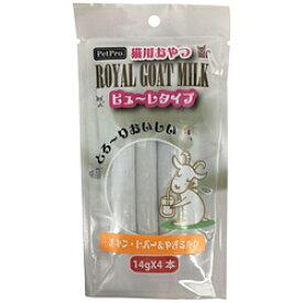 ペットプロジャパン PPロイヤルゴートミルク猫ピューレチキンレバーやぎミルク4本