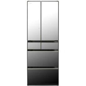 【基本設置料金セット】 HITACHI(日立) 冷蔵庫 HXタイプ クリスタルミラー R-HX60N-X [6ドア /観音開きタイプ /602L] RHX60N 【お届け日時指定不可】