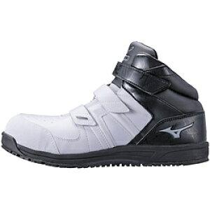 ミズノ 25.5cm 靴幅:3E メンズ 安全靴 MIZUNO WORKING オールマイティSF21M(ホワイト×グレー×ブラック)F1GA190210【JSAA・普通作業用(A種)認定品 耐滑 プロテクティブスニーカー】 [25.5cm] F1GA190210