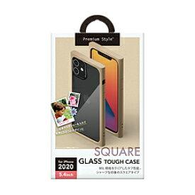 PGA iPhone 12 mini 5.4インチ対応ガラスタフケース スクエアタイプ ベージュ Premium Style ベージュ PG-20FGT07BE PG20FGT07BE