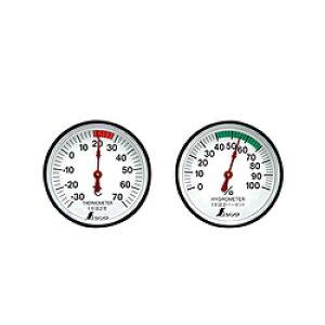 シンワ測定 シンワ測定 温度計・湿度計セットST-4丸型4.5 A764-72674 A76472674