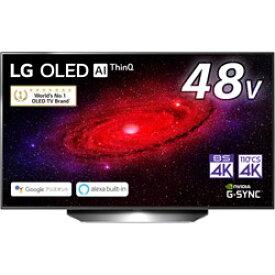 LG(エルジー) 有機ELテレビ ブラック OLED48CXPJA [48V型 /4K対応 /BS・CS 4Kチューナー内蔵 /YouTube対応] OLED48CXPJA 【お届け日時指定不可】