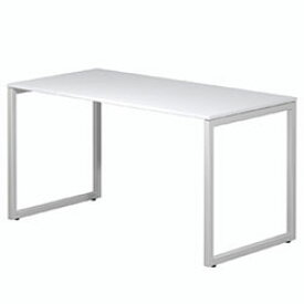 PLUS パソコンデスク fantoni GX-147H 幅140cm 奥行き70cm 白 ホワイト 414-486 GX147H [代引不可]